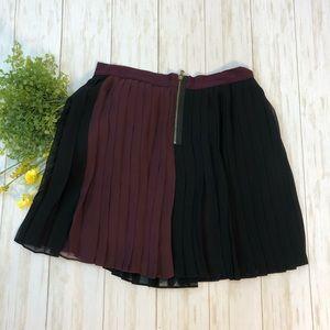 Club Monaco Color block Pleated Skirt